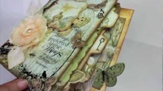 getlinkyoutube.com-Scrapbooking Butterfly Garden Mini Album (BlueMoon Scrapbooking DT Project).m4v