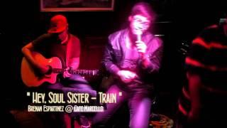 "getlinkyoutube.com-Brenan Espartinez ""Hey, Soul Sister"" - Train @ Cafe Marcello"
