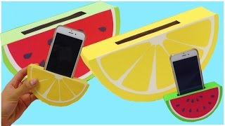 getlinkyoutube.com-HOW TO MAKE a phone holder,easy DIY(watermelon,orange)