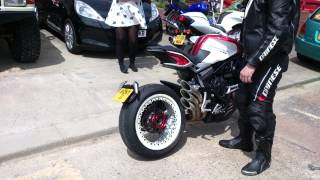 getlinkyoutube.com-MV Agusta Dragster 800RR QD Exhaust (No DB Killer)