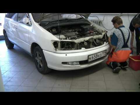 BiHalogen.ru - Установка фар и форсунок на Toyota Ipsum