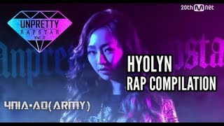 getlinkyoutube.com-Unpretty Rapstar 2: Hyolyn Rap Compilation