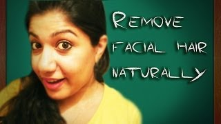 getlinkyoutube.com-Remove facial hair in 10 min naturally !! quick and easy
