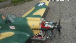 getlinkyoutube.com-RC Curtiss P-40 E Warhawk Flying Tigers