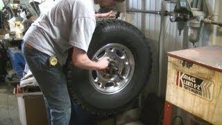 "getlinkyoutube.com-285 BFG's on Factory 16"" Chevy Rims Dad's Duramax Diesel 2500HD Crew Cab"
