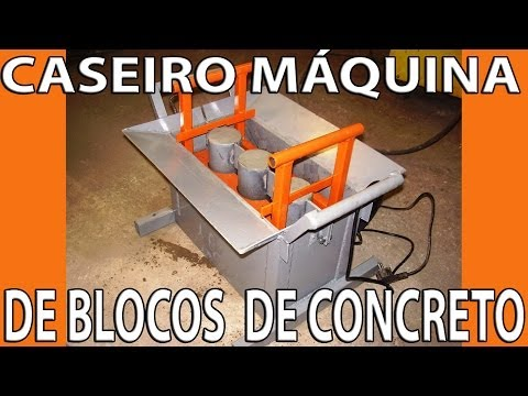 Caseiro Máquina  de Blocos de Concreto.