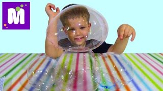 getlinkyoutube.com-Пузыри из тюбика надуваем и играем Bubbles from the tube inflate and play