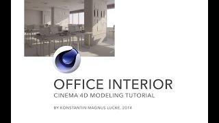 getlinkyoutube.com-Modeling with Polygons - Office Interior Cinema 4D-Tutorial