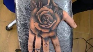 getlinkyoutube.com-Rose tattoo - time lapse