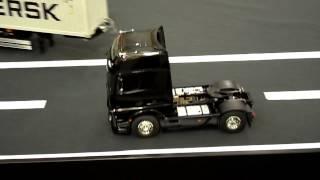 New Tamiya Mercedes Benz Actros 1851 GigaSpace Truck presented at Nuremberg Toy Fair 2013 модели RC 1:14