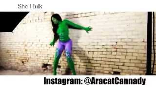 getlinkyoutube.com-Avengers She Hulk vs Iron Woman