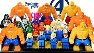 getlinkyoutube.com-Fantastic Four Marvel Superheroes LEGO KnockOff Minifigure Collection