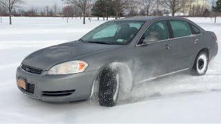 CRASHED MOMS CAR!!! SNOW DRIFT FAIL