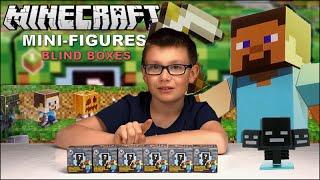 getlinkyoutube.com-MEGA ouverture SURPRISE de 6 Boites Mystère MINECRAFT série 2 ! Unboxing Family Geek