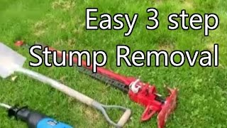 getlinkyoutube.com-Tree Stump removal with 3 simple tools.