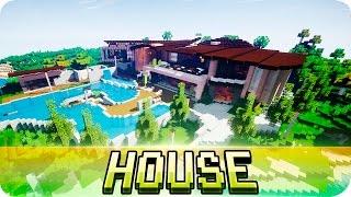 getlinkyoutube.com-Minecraft - Beautiful Modern House - Map w/ Download
