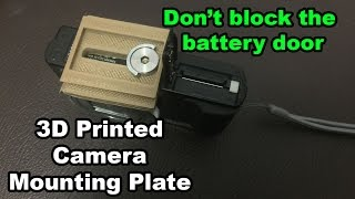 Camera mounting plate that doesn't block battery door