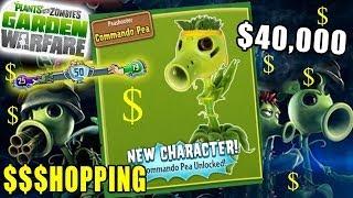 getlinkyoutube.com-Rare Commando Pea Unlocked! Plants vs. Zombies Garden Warfare Spectacular Pack Shopping + Gameplay