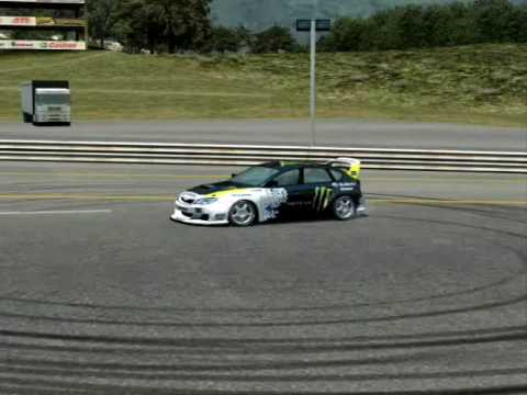LFS Ken Block Subaru Impreza With Monster Skin