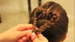 getlinkyoutube.com-ハートヘア 2 Heart Shape Braids Hairstyle