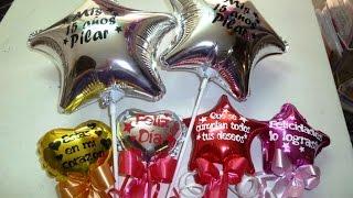 getlinkyoutube.com-Como personalizar un globo metálico Frases en globos