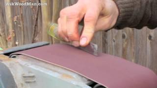 getlinkyoutube.com-Bring Old Carpenter's Chisel Back to Life with Belt Sander • Complete Sharpening Series Video 6