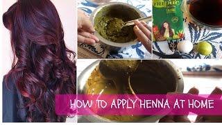 getlinkyoutube.com-Turn grey hair black at home | how to prepare henna hair dye paste for silky smooth hair