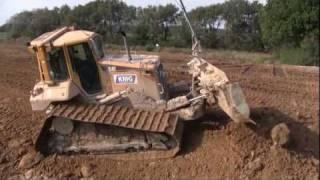 getlinkyoutube.com-Cat D6N LGP With GPS Grading Dirt