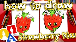 getlinkyoutube.com-How To Draw Strawberry Kiss Shopkins