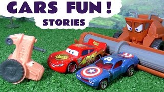 Disney Cars Toys Fun with Frank and Superheroes Captain America Iron Man and Thomas and Friends
