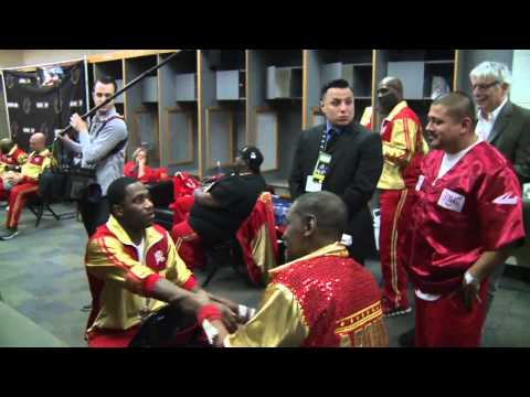 Adrien Broner Clowns Team Maidana Backstage Before Fight  -