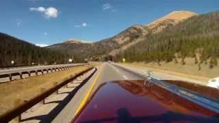 getlinkyoutube.com-Driving the Roadworks Peterbilt Showtruck toward Loveland Pass in 2012
