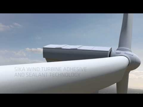 Turbine adhesives and sealant technology for windmills