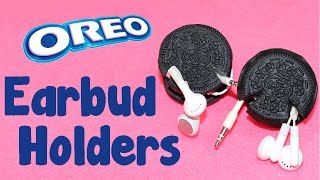 getlinkyoutube.com-DIY Crafts: How To Make Oreo Cookie Earbud Holders - DIY  Earphone Organizer Tutorial