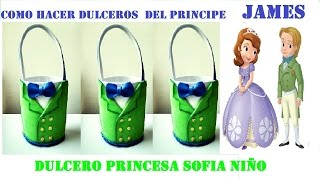 getlinkyoutube.com-COMO HACER  DULCERO PRINCESA SOFIA NÑO /PRINCIPE JAMES