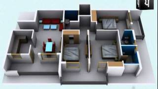 getlinkyoutube.com-3D Walkthrough Apartment Interior