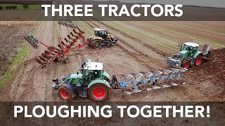 getlinkyoutube.com-Three Tractors Ploughing Together