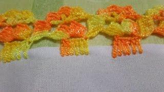 getlinkyoutube.com-Orilla O puntilla Tejida # 47 para servilletas, o cobijas de bebe