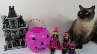 getlinkyoutube.com-Halloween Pumpkin Blind Bag Palooza LPS MLP Hello Kitty Shopkins Minecraft