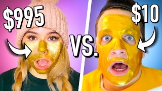 $995 Face mask vs $10 face mask! Cheap vs expensive beauty products tested!