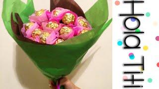 getlinkyoutube.com-Cómo hacer un ramo de chocolates - Hola Titi DIY