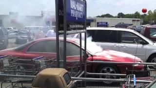getlinkyoutube.com-Car on Fire at Walmart, Muscle Shoals, AL