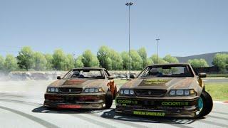 getlinkyoutube.com-Assetto Corsa-pan0 and friends-Drift series-meiham Circuit-||1080p||