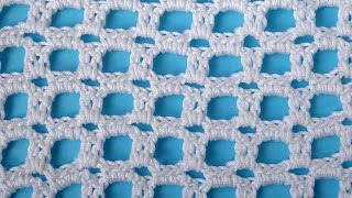 getlinkyoutube.com-Crochet pattern for free Сеточка крючком узор вязания 39
