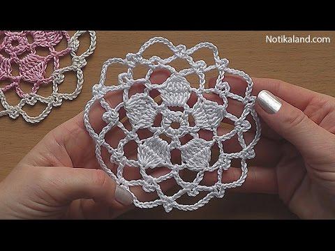 CROCHET Flower Motif Pattern Tutorial #1