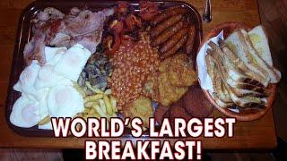 getlinkyoutube.com-World's LARGEST Breakfast Challenge Defeated TWICE!!