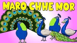 મારો છે મોર - Maro Chhe Mor -My Peacock Gujarati Rhyme for Children | Gujarati Balgeet Nursery Songs width=