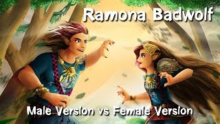 getlinkyoutube.com-Speed Art-Ramona(Male Version vs Female Version)-Ever After High