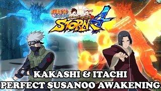 getlinkyoutube.com-Naruto Shippuden Ultimate Ninja Storm 4 Perfect Susanoo Itachi & Kakashi Awakening Gameplay