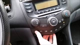 2003-2007 Honda Accord Aftermarket Stereo Install Metra 99-7862 and Factory Stereo Removal